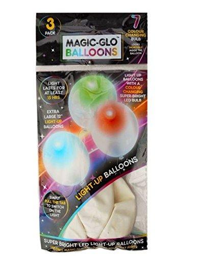 PMS 3 Stück weiße leuchtende Luftballons in Beutel 36D/B Nitrosamin FRE