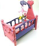 Brigamo 529 - Puppenbett mit Mobile und Bettzeug
