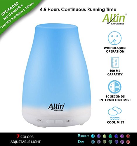 Allin Exporters Ultrasonic Aroma Diffuser and Humidifier 2 In 1...