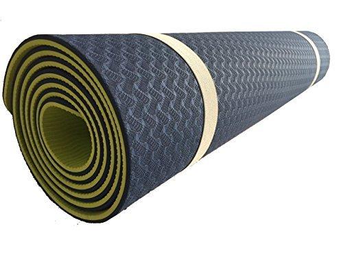 Equilibrium tappetino da yoga a doppio strato spessore: 6 mm con