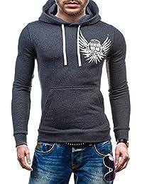 BOLF – Sweat-shirt á capuche - Pull de sport – BOLF 58S – Homme – L Anthracite [1A1]