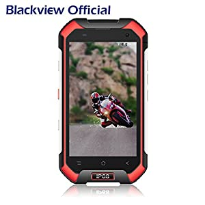 Rugged Smartphone,Blackview BV6000 IP68 SIM Free Mobile Phones Unlocked - 4G Android 7.0 Octa-core 3GB RAM 32GB ROM 45000mAh -4.7 inch Gorilla Glass Screen Camera 13MP, NFC GPS GLONASS PTT Waterproof / Shockproof / Dustproof Tough Dual SIM Phone-Red