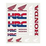 Pritelli 1858003Set Autocollants Stickers Honda HRC, Moyen