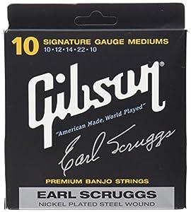 Gibson Gear SBG-ESL Gibson Earl Scruggs Signature Cordes de Banjo Light