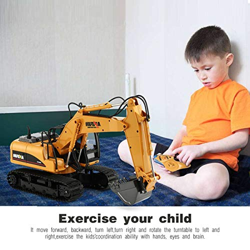 RC Auto kaufen Baufahrzeug Bild 5: HUINA 1550 1/14 2.4G 15CH RC Legierung Bagger LKW Baufahrzeug Spielzeug*