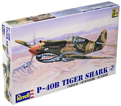 Revell-Monogram Maquette d'avion P-40B Tiger Shark échelle 1/48, 85-5209, Multicolor