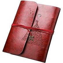 Cuero Album de Fotos, Luxebell 19 * 25 cm Marrón PU Cuero Álbumes de Imágenes con Cinturón Para el Bricolaje, Álbum de Recortes Para Guardar la Memoria Feliz