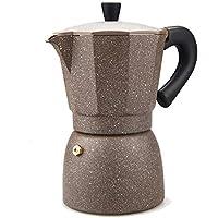 TAMUME Caffettiera Espresso Alluminio Moka Colorata, 6 Tazze, 240ML -