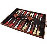 Backgammon mit Kunstleder Koffer 57 x 45 cm P-194