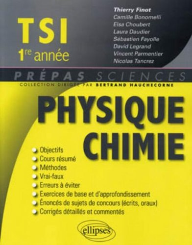 Physique chimie TSI 1