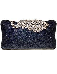 Glorious Era Navy Blue Stylish Clutch/sling Bag Party Wear Women Ladies Purse
