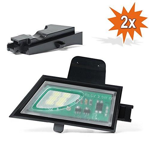 2 x DO. LED D22 environnement LED SMD Éclairage Applique Miroir Lumière ambiante avec marquage E