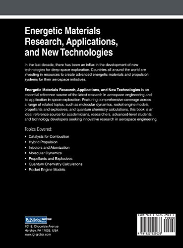 Energetic Materials Research, Applications, and New Technologies (Advances in Chemical and Materials Engineering)