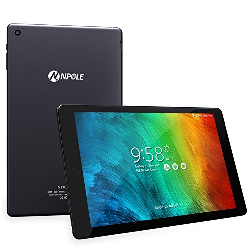 NPOLE Android Tablet 10,1 Zoll Tablet Metallschale 2GB RAM 16GB ROM Android 6.0 Dual Kamera 2 MP und 5 MP HD 1280x800 IPS Display 2,4G / 5G Wi-Fi Bluetooth 4.0 GPS 2017 neue Version (Grau)