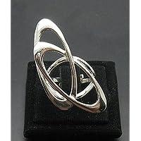 Stravagante anello da Donna in Argento Ellisse 925 misura regolabile R000927