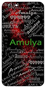 Amulya (Priceless) Name & Sign Printed All over customize & Personalized!! Protective back cover for your Smart Phone : HTC One A-9
