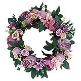 Baoblaze Kunstblumen Karnz Pfingstrose Kranz Blütenkranz Dekokranz für Tür Tisch Stuhl Wand usw. - 4 - 2