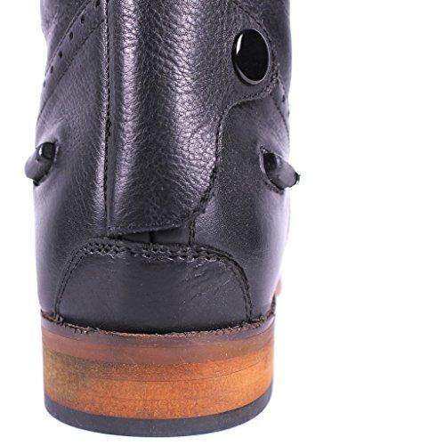 QHP Damen Luxus Leder-Reitstiefel Sophia weite Wadenweite Größe 36 - 42 Schwarz