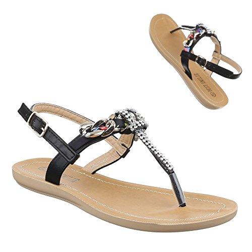 Ital-design - Chaussures Peep Toes Noires Pour Femme