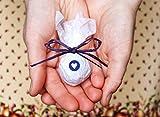 Seedball Gastgeschenk mit Herz, blaubeer