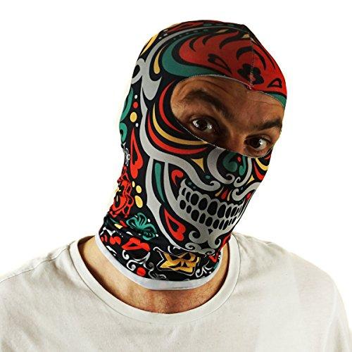 Ferocity Multifunktionen Gesichtsmaske Kapuzenmütze Balaclava Skimaske Gesichtschutz Maske Mexican Skull [076]