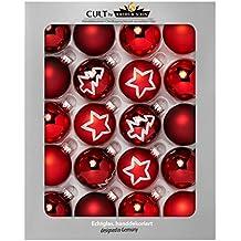 Christbaumkugeln Set Rot.Suchergebnis Auf Amazon De Für Weihnachtskugeln Glas Rot