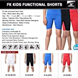Kinder Kompression Shorts Unterwäsche Jungen Youth Spandex Base Layer Hose Pants FK Gr. Small, Rot