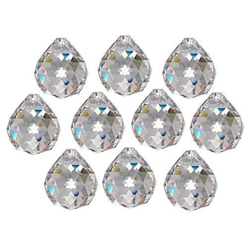 10x Regenbogenkristall Kugel Ø 20mm Crystal 30% PbO ~ Kronleuchter Lüster Feng Shui (Kristalle 10 Kronleuchter)