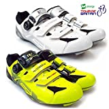 VeloChampion Scarpe (paio) da ciclismo VCX con suola in fibra di carbonio White/Silver/Black 43