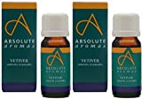 (2 Pack) - Absolute Aromas - Vetiver Oil | 10ml | 2 PACK BUNDLE