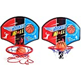 Magideal Kids Portable Basketball Toy Set with Stand Ball & Pump Indoor Outdoor Game