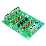 Ils - 24V bis 5V 4-Kanal-Optokoppler Isolation Vorstand Getrennt Modul PLC Signalpegel Spannungswandlerkarte 4Bit