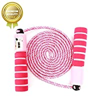 NHFOREST Skipping Rope for Children & Kids, Adjustable Jump Speed Rope with Counter and Anti Slip Handle, Ideal for Boys and Girls Fitness & Exercise and Workout, Max 8.5ft