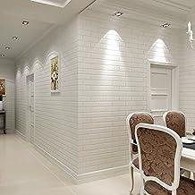 KAIRRY Ladrillo patrón de papel tapiz de fondo de ladrillo blanco puro papel pintado la sala de estar