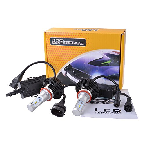 XCSOURCE 2pcs Philips LED scheggia totale 40W 4800LM H8 / H9 / H11 Lampada frontale Kit alta 6000K Fascio lampadine bianche LD905