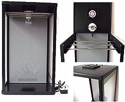 Biltong Maker Biltong Box Beef Jerky Dehydrator Biltong Spice with GREY Back Panel, 100g FREE SPICE and Light Bulb