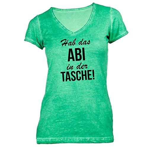 Damen T-Shirt V-Ausschnitt - Hab das Abi in der Tasche - Abitur