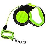 DXABLE Einziehbare Hundeleine, verlängert sich auf 10Ft (3M) Mit Break and Lock Button, Reflektierendes Seil für Nachtsicherheit, Geeignet für kleine, mittlere Hunde - 100% Life Time Garantie (Green)
