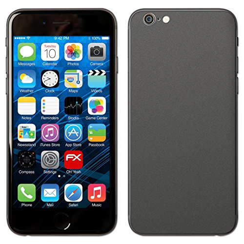 "Skin Apple iPhone 6 ""FX-Carbon-Red"" Designfolie Sticker FX-Soft-Silver-Grey"