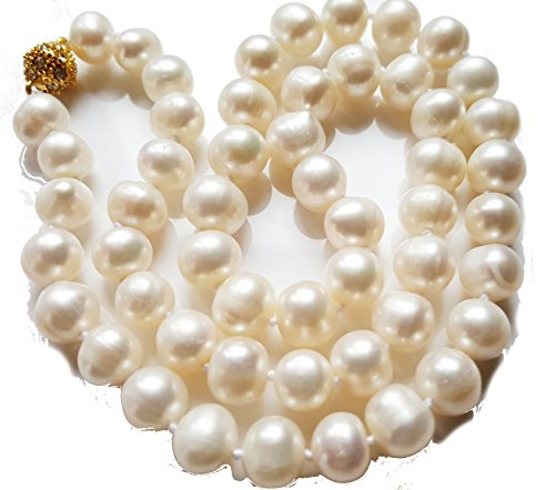 aaa-9-10mm-akoya-white-pearl-necklace-18k-gold-plated-ball-faux-diamond-clasp