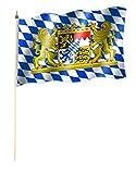 Stock Bandiera/Stock Bandiera Baviera con leone Bandiera/Bandiera circa 30x 45cm con circa 60cm bastone/