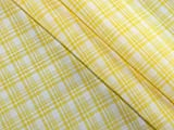 Plaid kariert Gewebe der Viskose Kleid gelb–Meterware