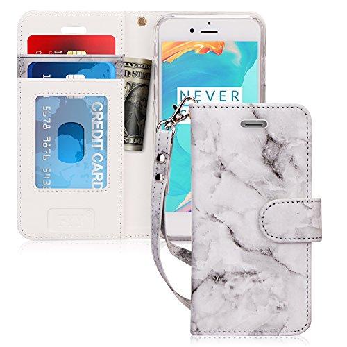 FYY iPhone X Hülle, iPhone XS Hülle,[RFID-Blockierung Brieftasche Hülle Flip Folio [Ständer Feature] mit ID & Kreditkarte Protector Schutzhülle für iPhone X, Marmor Schwarz