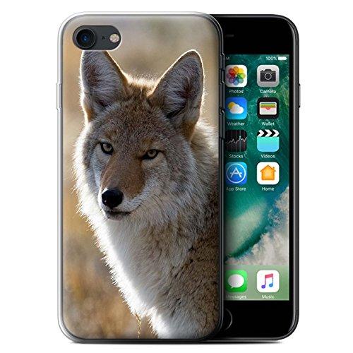 Stuff4 Gel TPU Hülle / Case für Apple iPhone 8 Plus / Elch Muster / Nordamerika Tiere Kollektion Boyote
