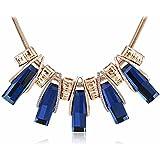 z-p Fashion Classic vestido de patrón corta clavícula Jersey cadena