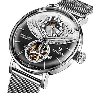 Schweiz Automatic Watch Men Saphir Japan Bewegung Skeleton Mechanical Men...
