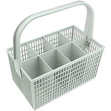SPARES2GO Cubiertos cesta jaula para Miele lavavajillas (Color Blanco, 237mm x 137mm x 122mm)