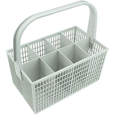 SPARES2GO Posate Basket Gabbia per Essentials Lavastoviglie (Bianco, 237mm x