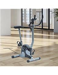 Bicicleta Estática de Spinning Fitness Altura Ajustable Pantalla Negro Max 100kg