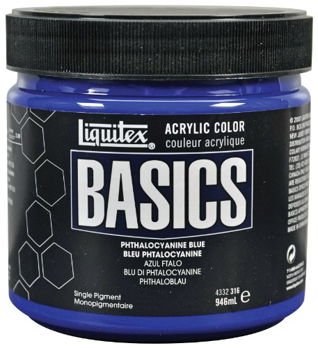 Liquitex Basics Acrylfarbe, 946 ml, Phthalozyaninblau - 32 Oz Satin